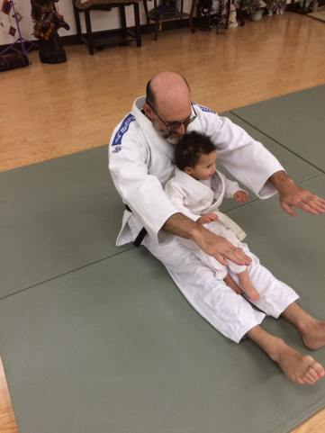 Sensei Leon with his daughter Shamira