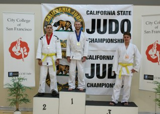 Jason takes first in his first judo tournament ever.