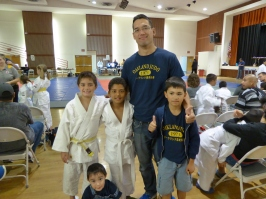 Isaac, David, Sensei Jonah, Henry, and little Luke!